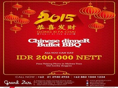 ... menu promo Tahun Baru Imlek ini berupa 'all you can eat' BBQ